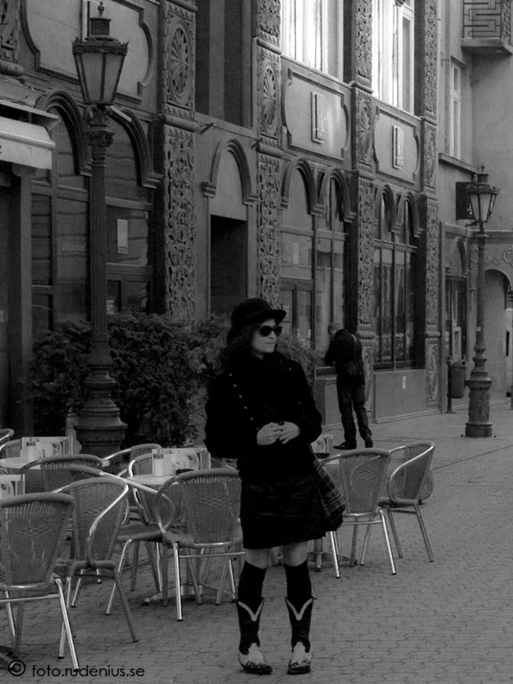 My first Street Photo - Lady in Black. 2010