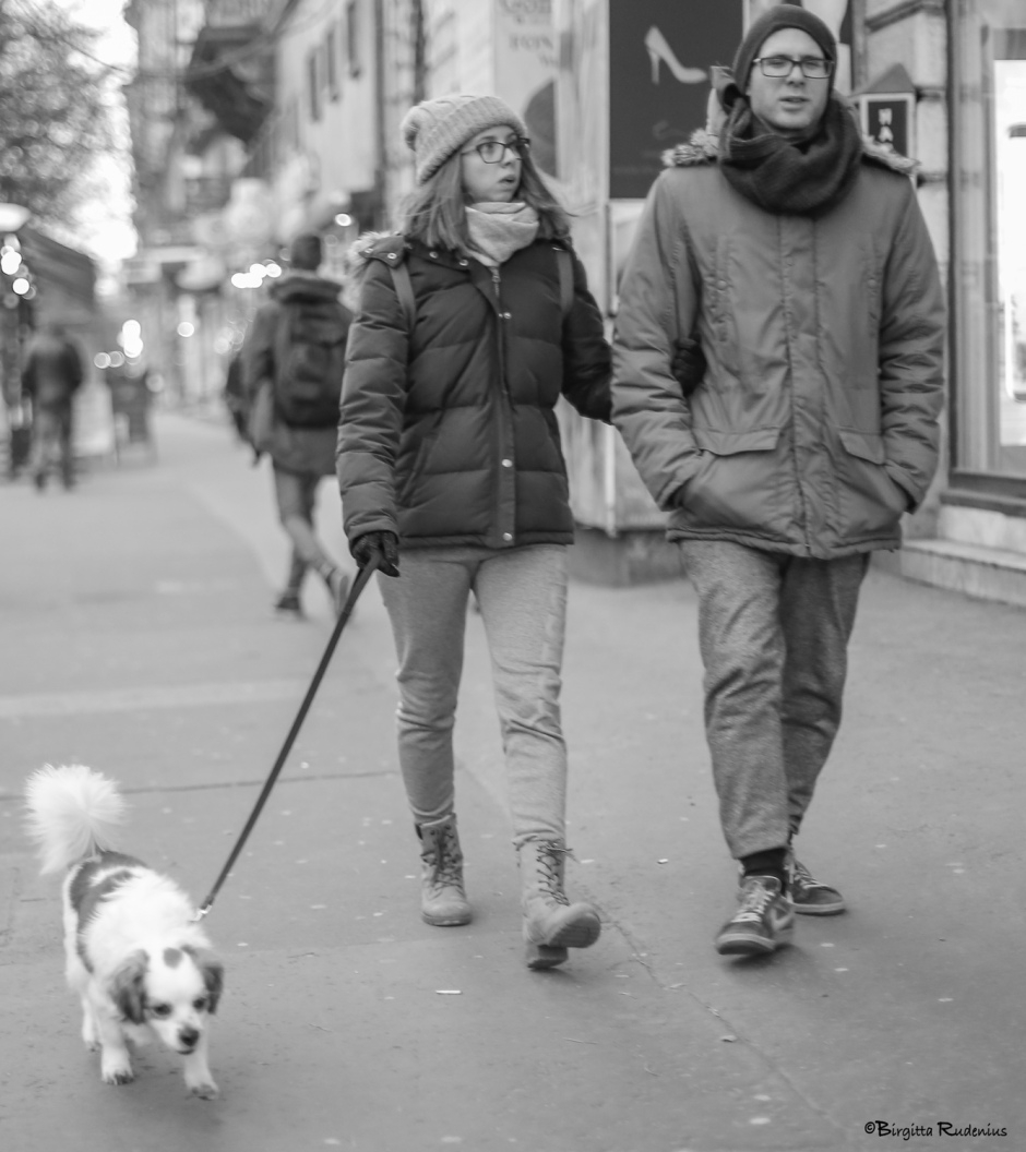 Street Photo - He & She ... and the Dog.
